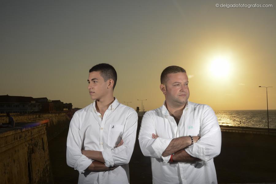 Papá e hijo - Fotografía familiar en Cartagena