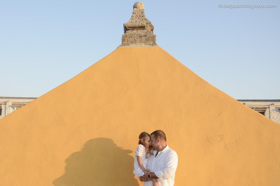 Papá e hija - Fotografía familiar en Cartagena