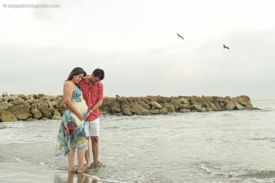 Fotografia de embarazo en Cartagena