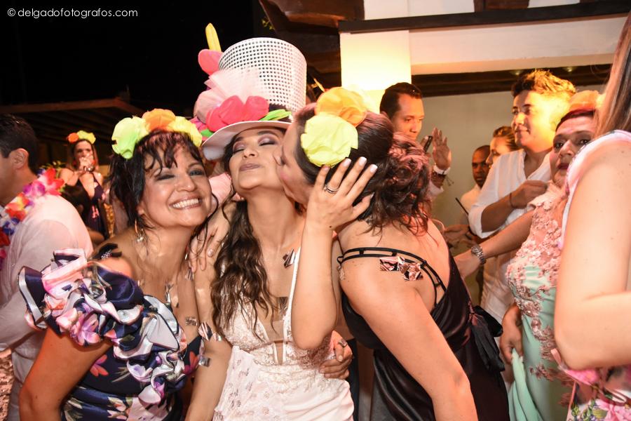 carnaval en boda en Cartagena