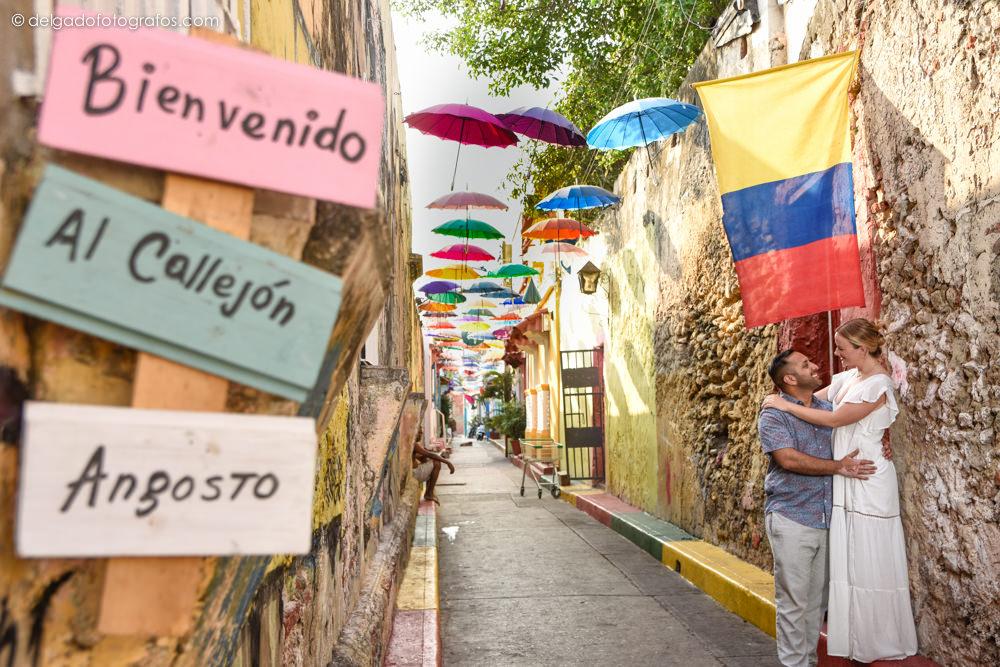 Umbrella street - Getsemaní - Cartagena