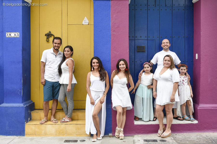 Fotografía de familia en Cartagena