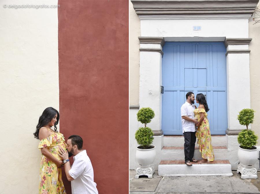 Pregnancy photoshoot in Cartagena