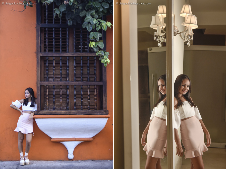 sweet 16 photo session in Cartagena