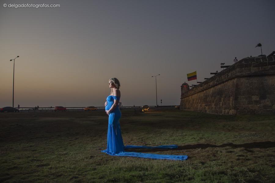 Murallas de Cartagena - Foto estudio embarazada en Cartagena