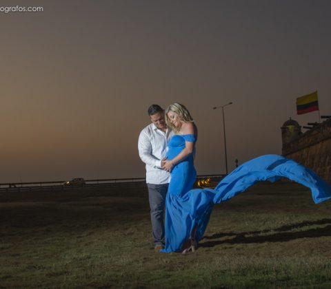 Foto estudio embarazada en Cartagena