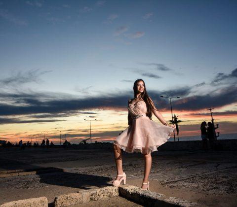 Quinceañera en Atardecer de Cartagena - Alvaro Delgado Fotógrafo