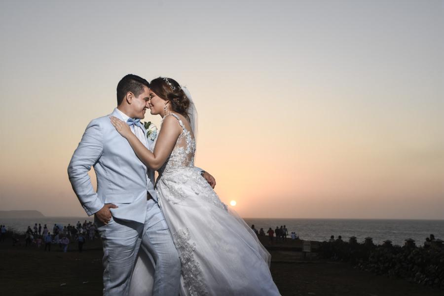 Atardecer caribeño en una boda enSalgar
