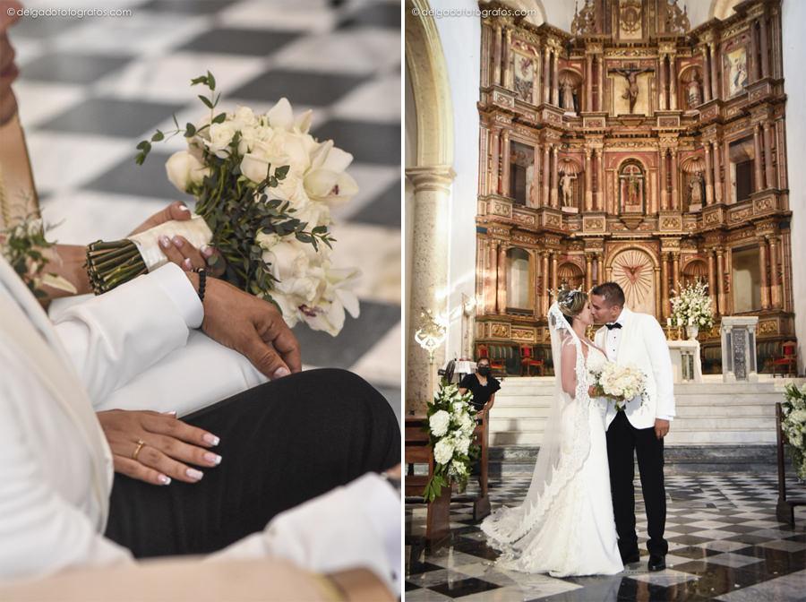 Matrimonio en Cartagena - Catedral de Cartagena - Delgado Fotógrafos