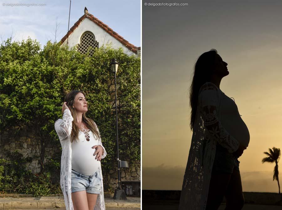 Pregnancy photo in Cartagena - Johana Peña fotógrafa