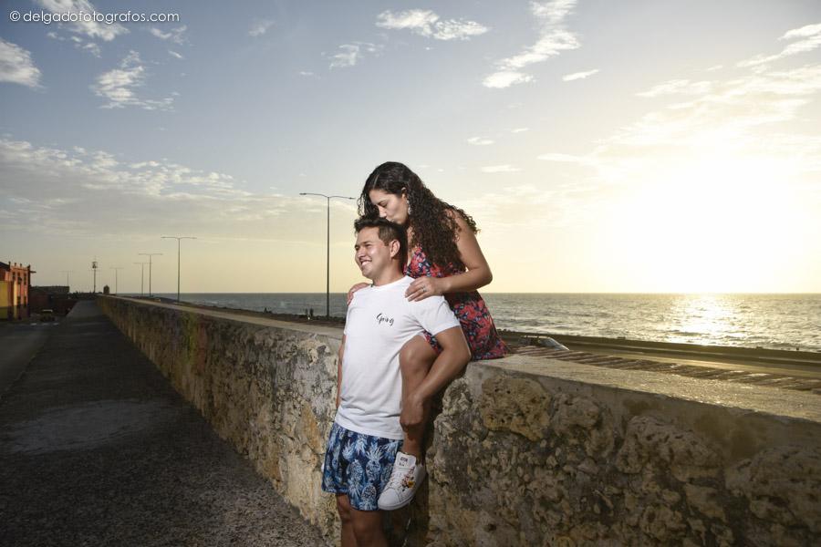Atardecer romántico en Cartagena. Fotos por Johana Peña.