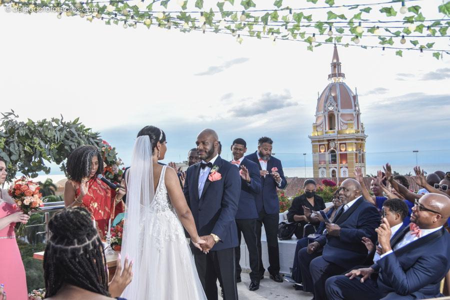 Cartagena weddings. Catedral de Santa Catalina de Alejandría en Cartagena.