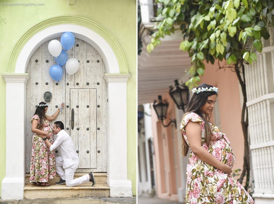 Fotografía de embarazo en Cartagena. Alvaro Delgado Fotógrafo.
